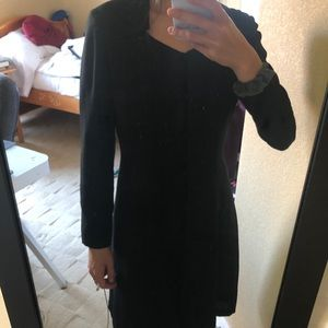 Lautreamont Black Button Up Collared Dress
